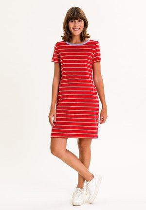 ELININA - Jersey dress - rot mit streifen