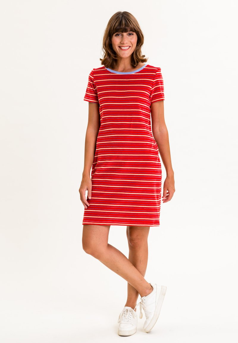 UVR Berlin - ELININA - Jersey dress - rot mit streifen