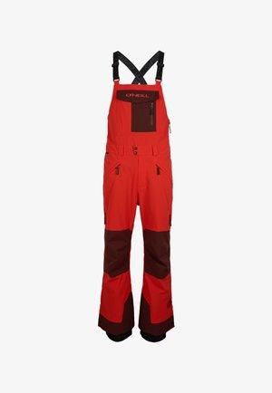 Snow pants - fiery red