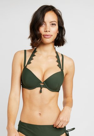 AMANDA QUEEN DEMI - Bikini top - khaki