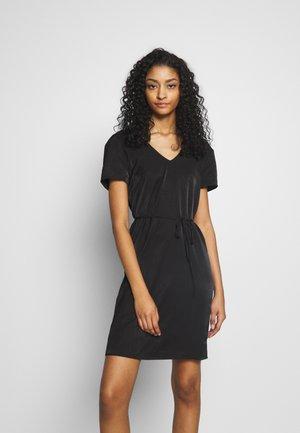 OBJEILEEN LACE V-NECK DRESS - Korte jurk - black