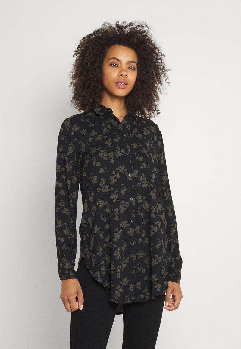 b.young - BYJOSA LONG - Button-down blouse - black