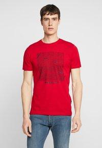 Tiffosi - GIBSON - Print T-shirt - red - 0