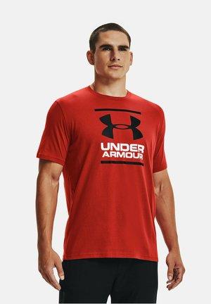 FOUNDATION - Print T-shirt - dark red