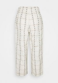 Madewell - PRINTED TAPERED HUSTON - Trousers - beige - 1