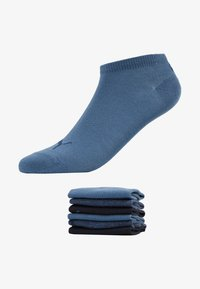Puma - SNEAKER PLAIN 6 PACK UNISEX - Trainer socks - denim blue - 1