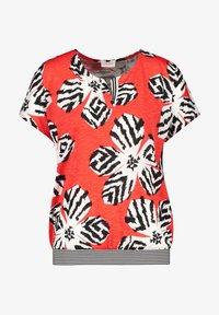 Gerry Weber - 1/2 ARM - Print T-shirt - tangerine ecru schwarz druck - 2