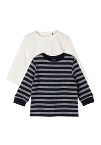 s.Oliver - PACK - Long sleeved top - black/white - 2