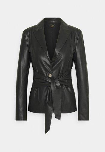 GIACCA - Faux leather jacket - nero