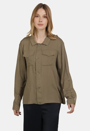 Button-down blouse - mud