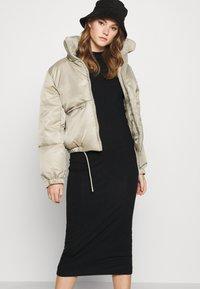 Weekday - BEGONIA CUTOUT BACK DRESS - Jersey dress - black - 3