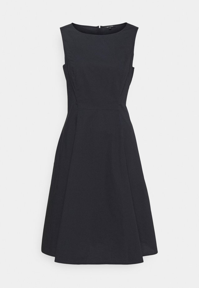 DRESS FITTED MIDI LENGHT FULL - Sukienka letnia - dark blue