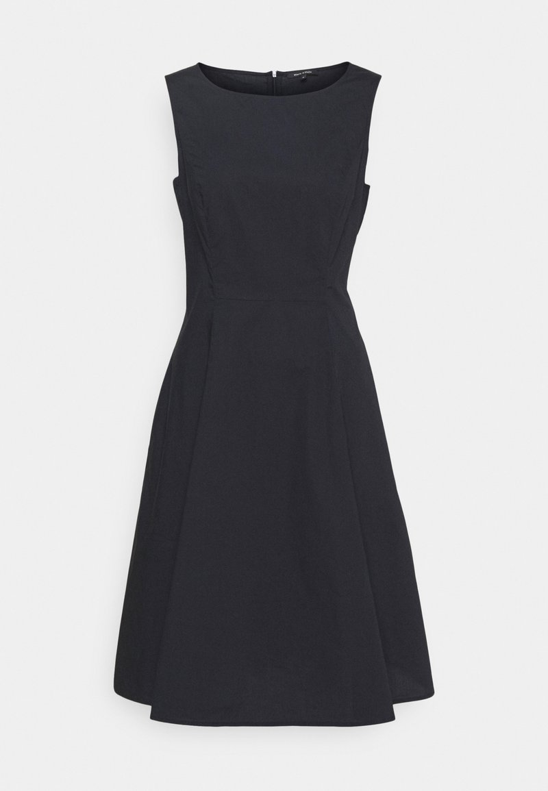 Marc O'Polo - DRESS FITTED MIDI LENGHT FULL - Day dress - dark blue