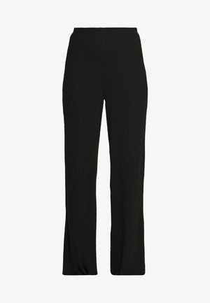 WIDE LEG TROUSER - Joggebukse - black