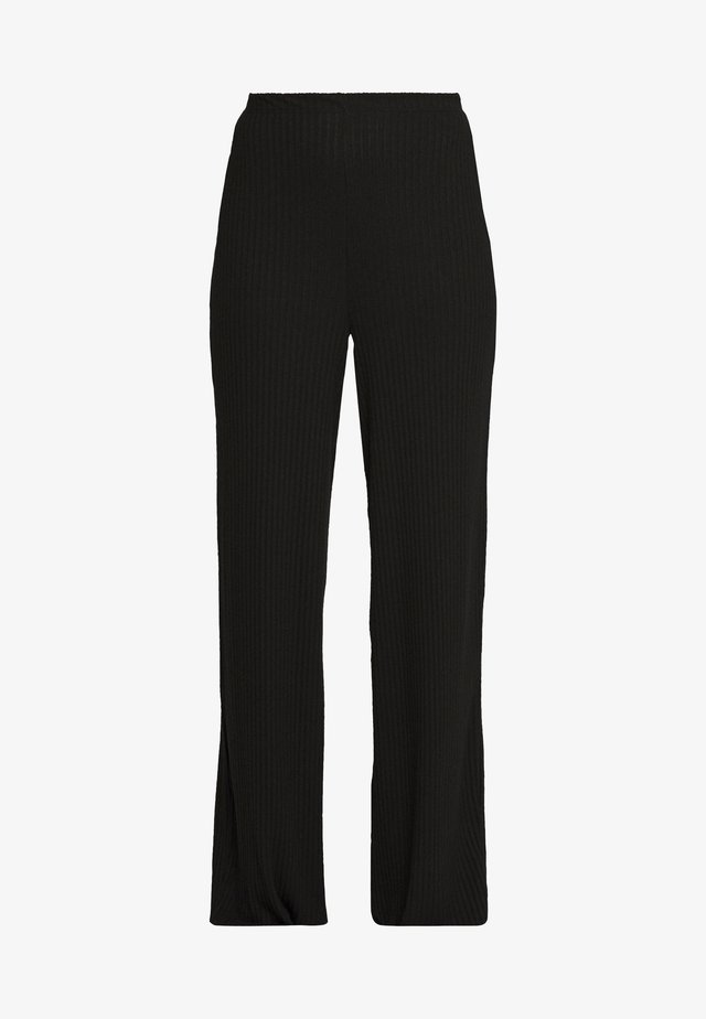 WIDE LEG TROUSER - Trainingsbroek - black