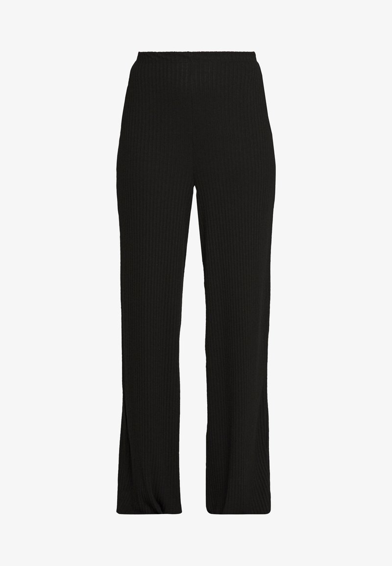 Missguided Tall - WIDE LEG TROUSER - Tracksuit bottoms - black