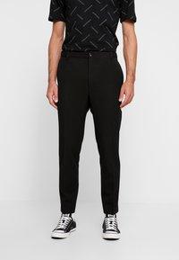 Calvin Klein Tailored - PINSTRIPE TROUSER CASUAL - Trousers - black - 0