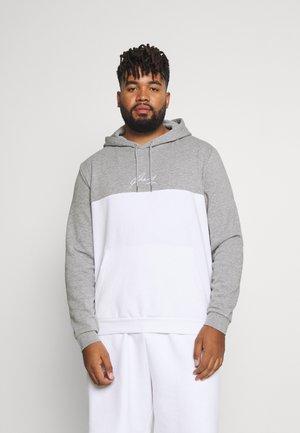 Hoodie - light grey/white
