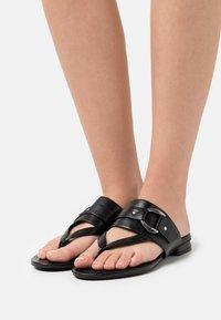 Steven New York - JASMINN - T-bar sandals - black - 0