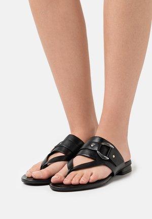 JASMINN - T-bar sandals - black
