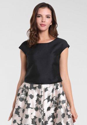 SATIN - Bluse - schwarz
