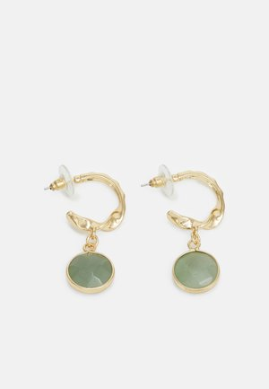 CHARM EARRINGS - Earrings - gold-coloured/green