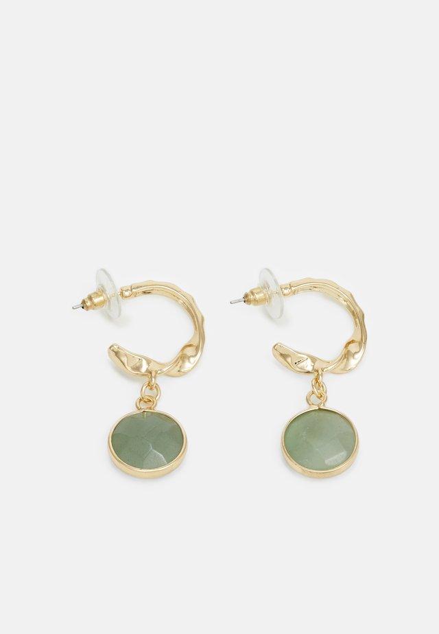 CHARM EARRINGS - Oorbellen - gold-coloured/green