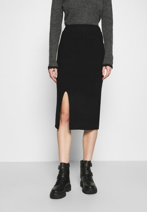 FRONT SLIT SKIRT - Pencil skirt - black
