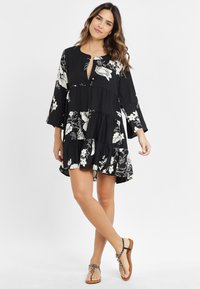 LASCANA - Shirt dress - black/cream - 1