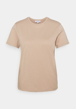 BASIC CREW NECK - Basic T-shirt - beige