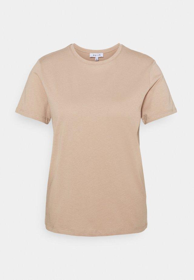 BASIC CREW NECK - T-shirts - beige