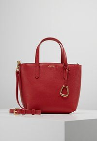 Lauren Ralph Lauren - MINI TOTE CROSSBODY MEDIUM - Kabelka - red/navy - 0