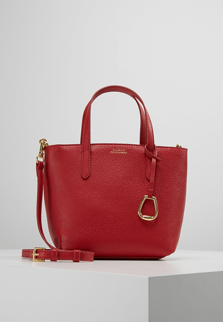 Lauren Ralph Lauren - MINI TOTE CROSSBODY MEDIUM - Kabelka - red/navy