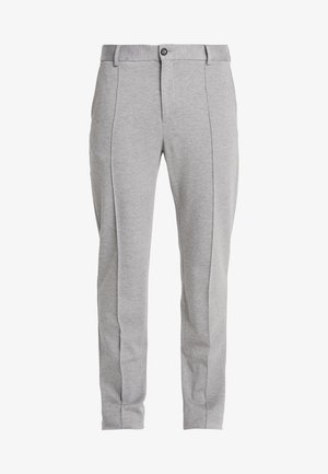 SLIM FLEX WITH PINTUCK - Trousers - grey