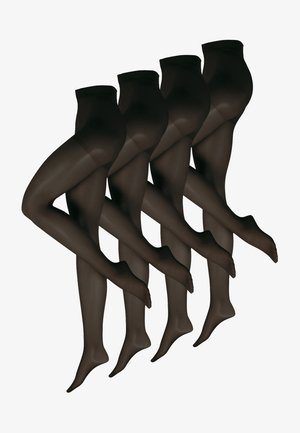 4-PACK - Legging - schwarz