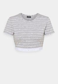 grey melange/white