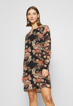 LADIES DRESS PREMIUM - Korte jurk - kimono black