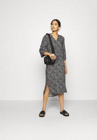 Soaked in Luxury - ZAYA DRESS - Day dress - black/creme - 1