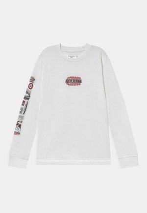 MULTIHIT PRINT LOGO - Long sleeved top - white