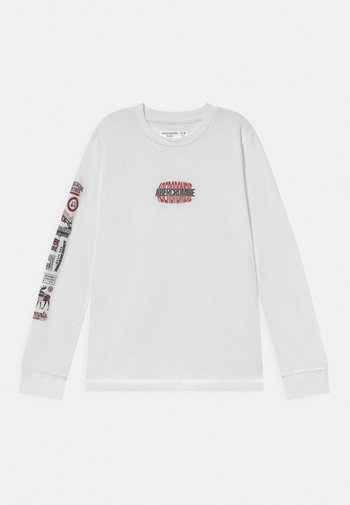 MULTIHIT PRINT LOGO - Maglietta a manica lunga - white