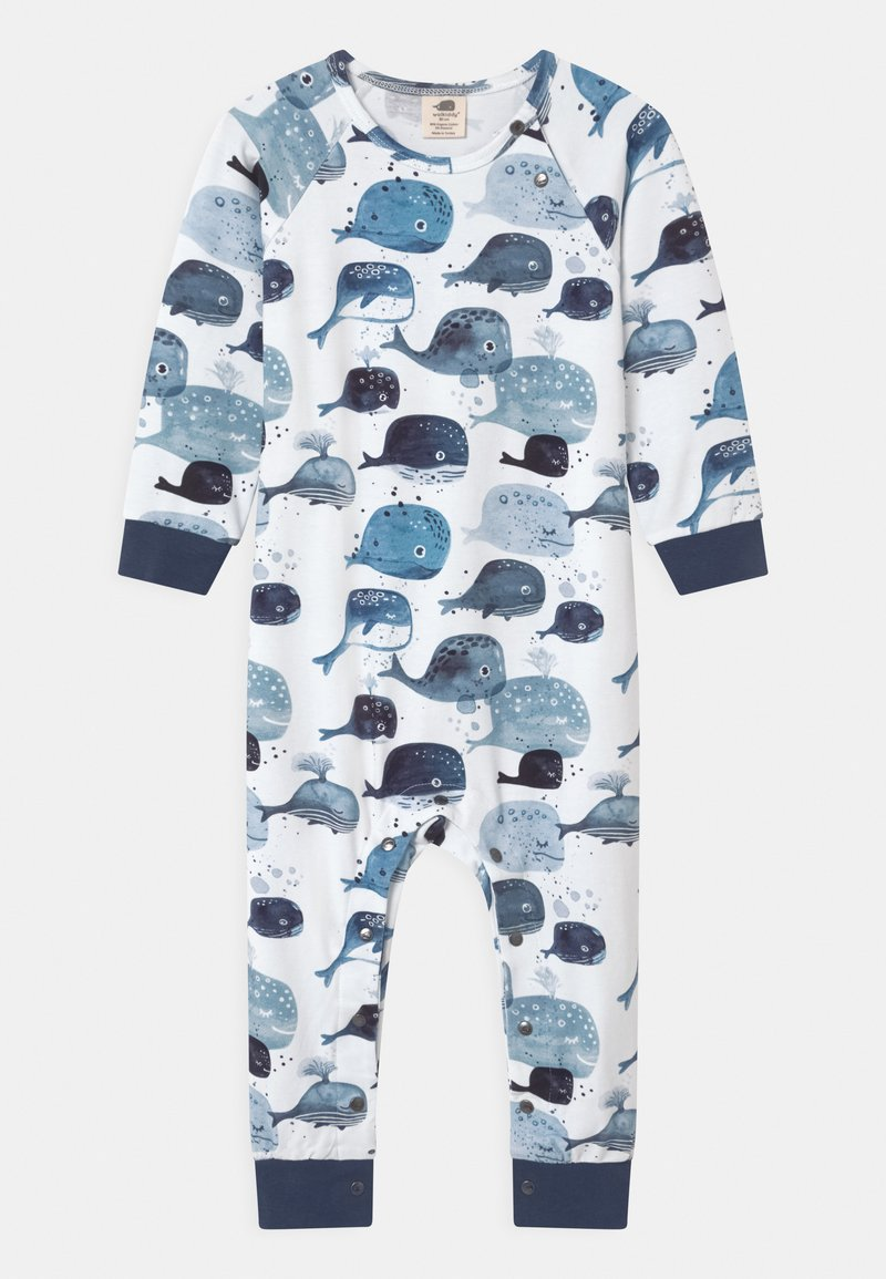 Walkiddy - BABY WHALES UNISEX - Pyjamas - white