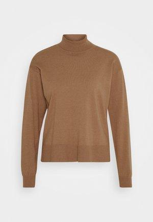 ROLL NECK- LOOSE FIT - Jumper - mottled brown