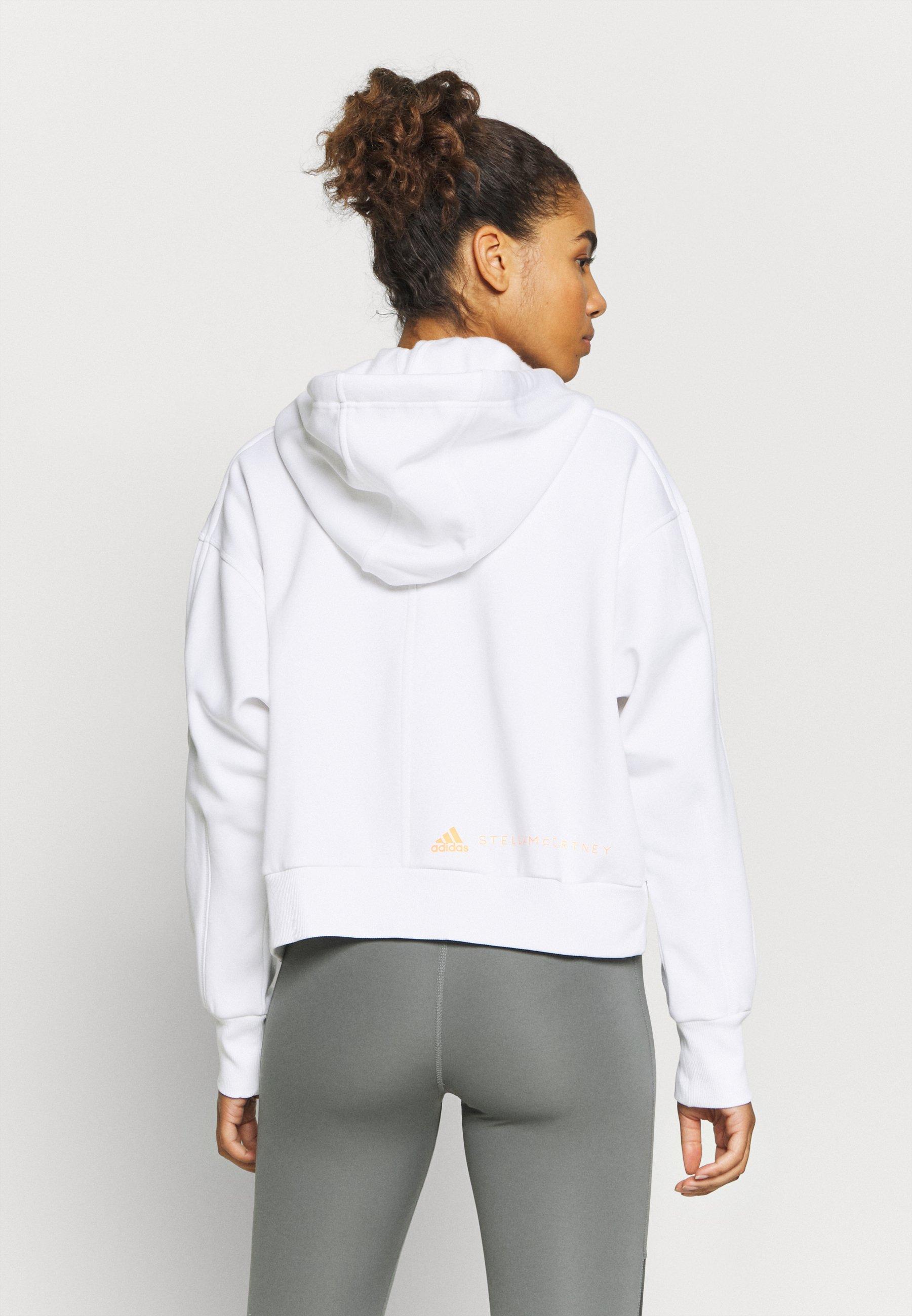 adidas by Stella McCartney CROPPED HOODIE - Zip-up hoodie - white nlJQb