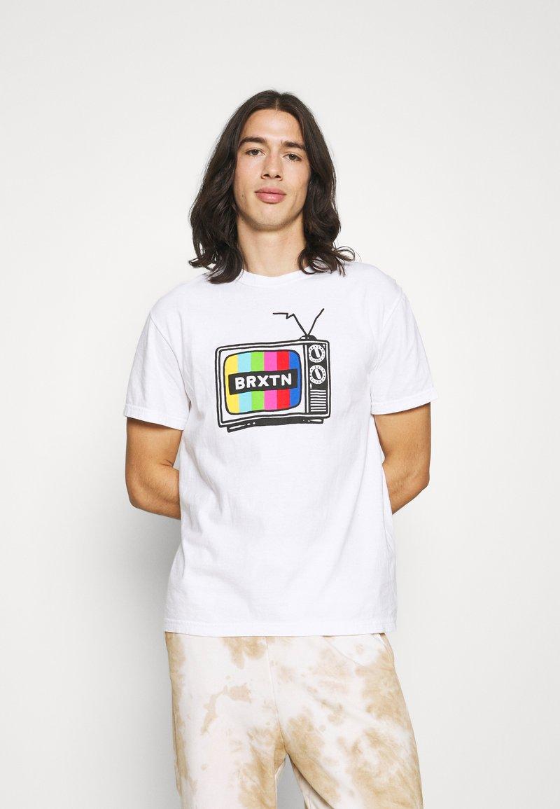 Brixton - SERVICE - Print T-shirt - white