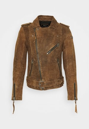 RUSTY - Leather jacket - vintage cognac