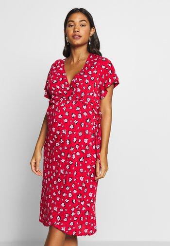 DRESS FLOWER - Žerzejové šaty - chinese red