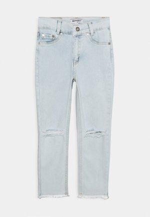 GIRLS HIGH WAIST CROPPED ULTRASTRETCH KNEE CUT OPEN SEAM - Skinny džíny - blue