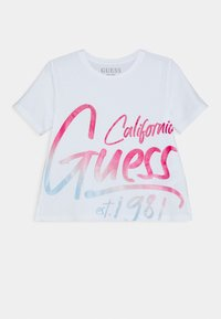 Guess - JUNIOR - Print T-shirt - true white - 0