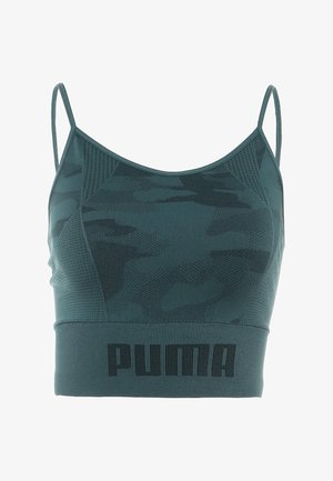 EVOKNIT SEAMLESS CROP - Sports shirt - ponderosa pine