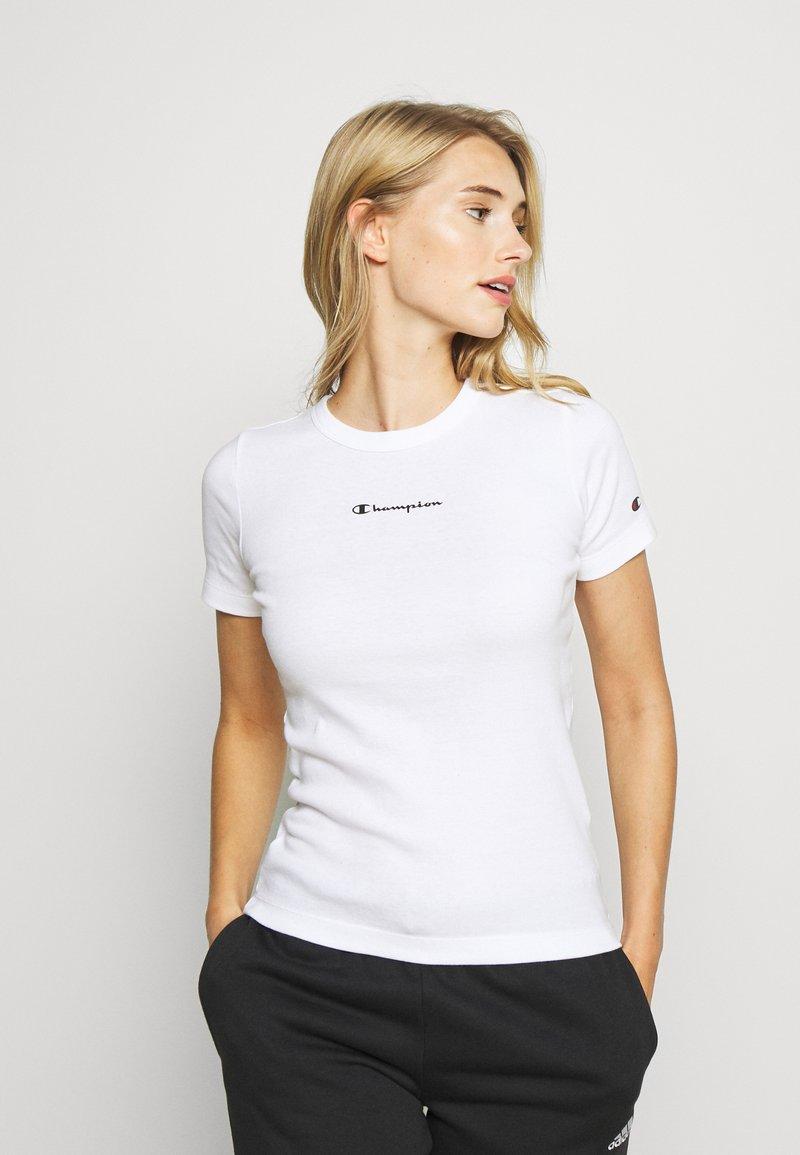 Champion - CREWNECK - Jednoduché triko - white